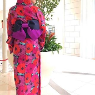 ロデオクラウンズワイドボウル(RODEO CROWNS WIDE BOWL)のロデオクラウンズ 浴衣 花柄 ピンク ノベルティ 華やか 非売品 0528(浴衣)