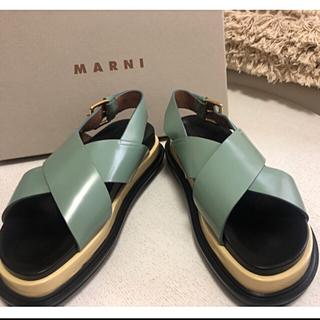 マルニ(Marni)のマルニ 18SS フスベットサンダル 38(サンダル)