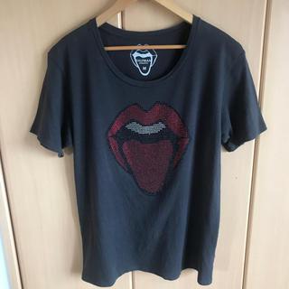 HALFMAN - HALFMAN ラインストーン Tシャツ