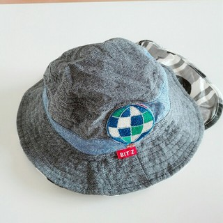 ビッツ(Bit'z)の【1回着用】BIT`s 日除け付き帽子48㎝(帽子)