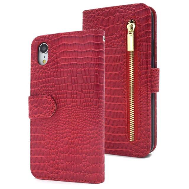 iPhoneXR  クロコダイル手帳型ケース レッド 赤の通販 by iPhoneケース専門店's shop|ラクマ