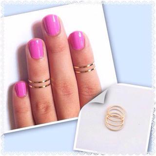 シンプル  ファランジ リング  2個(リング(指輪))