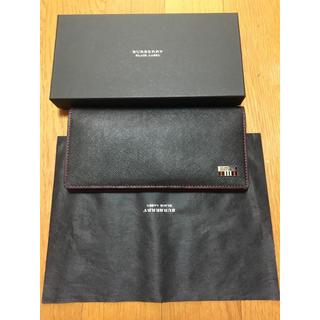 バーバリーブラックレーベル(BURBERRY BLACK LABEL)の新品未使用 バーバリー ブラックレーベル 長財布 黒 プレゼント(長財布)
