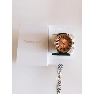 テンデンス(Tendence)のテンデンス 腕時計 TG530004 フラッシュ ピンクゴールド/ブラック(腕時計(アナログ))