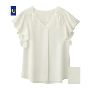 ジーユー(GU)のGU フリルスリーブブラウス(シャツ/ブラウス(半袖/袖なし))