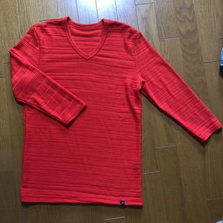 テットオム(TETE HOMME)のテットオム  ボーダーVネックカットソー五分袖(Tシャツ/カットソー(半袖/袖なし))