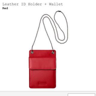 シュプリーム(Supreme)のleather id holder + wallet(コインケース/小銭入れ)