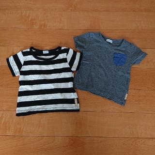 694424f566d21 シマムラ(しまむら)のオーガニックコットンTシャツ 2枚セット 80cm(Tシャツ