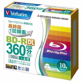 三菱ケミカルメディア Verbatim 1回録画用 BD-R DL 10枚 VB(DVDプレーヤー)