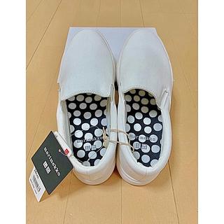 ユニクロ(UNIQLO)の新品 ユニクロ  マリメッコ スリッポン 靴(スリッポン/モカシン)