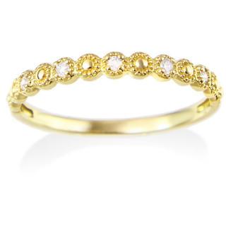 ジュエリーツツミ(JEWELRY TSUTSUMI)のK10 イエローゴールド ダイヤモンド リング (リング(指輪))