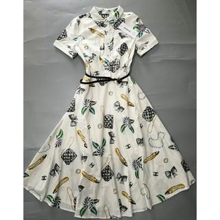79687d9ce8b0d シャネル(CHANEL)の美品Chanelシャネル ロングワンピース ドレス M 正規品(