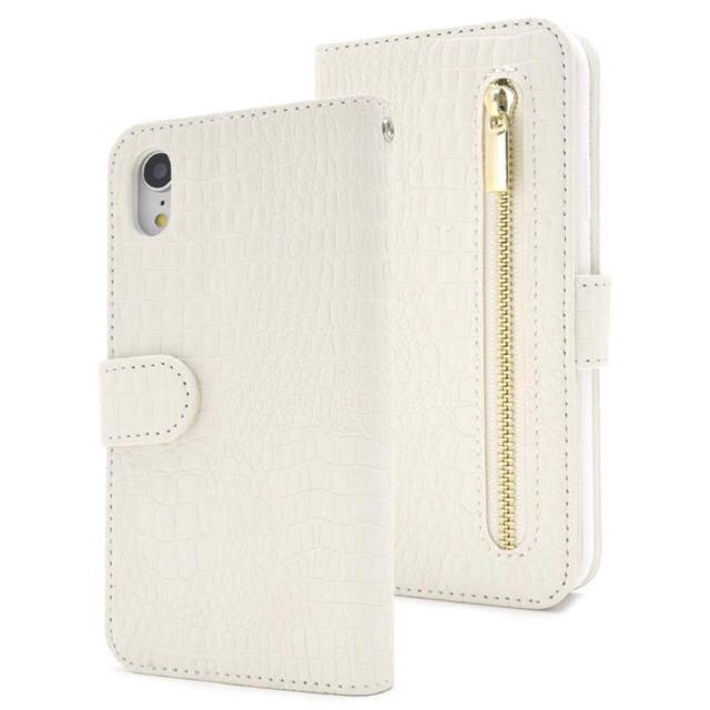 iphone7 ケース 染 、 iPhoneXR クロコダイル手帳型ケース ホワイト 白の通販 by iPhoneケース専門店's shop|ラクマ
