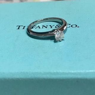 ティファニー(Tiffany & Co.)の美品 ティファニー 0.28ct 上質ダイヤモンド リング 指輪 pt950(リング(指輪))