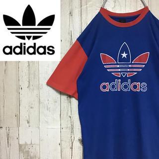 アディダス(adidas)の【アディダス】【バックプリントあり】【トリコロール】【Tシャツ】(Tシャツ/カットソー(半袖/袖なし))