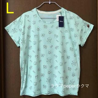 チップアンドデール(チップ&デール)のチップとデール 総柄 tシャツ L ペパーミントグリーン(Tシャツ(半袖/袖なし))