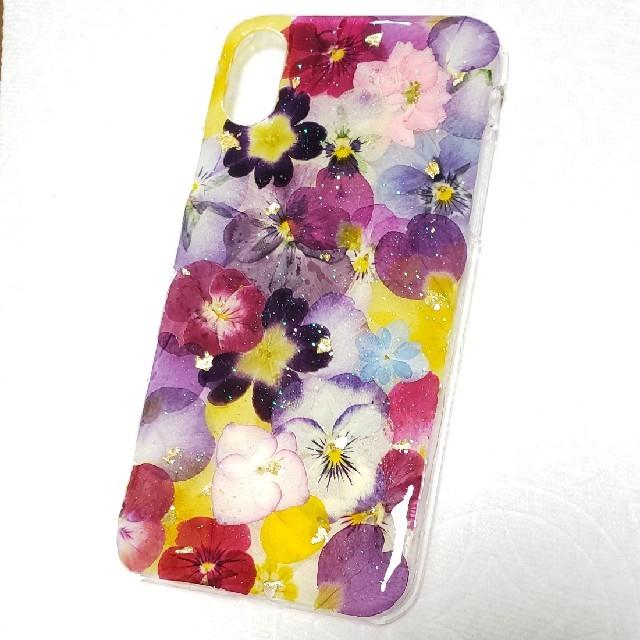 iphone xr ケース ネタ / 押し花ケース iPhoneX・XS 対応の通販 by みりな♪'s shop|ラクマ