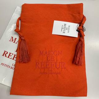 メゾンドリーファー(Maison de Reefur)のMAISON DE REEFUR ロゴ タッセルポーチ 巾着 メゾンドリーファー(ポーチ)