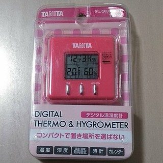 タニタ(TANITA)のあんこ饅頭様 新品未開封TANITA デジタル温湿度計 TT-550 ピンク(その他)