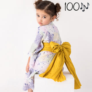 817c3744d83d1 プティマイン(petit main)の 新品未使用 プティマイン 紫陽花柄浴衣×