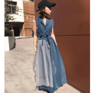ca5cfdbbf323c アメリヴィンテージ(Ameri VINTAGE)のameri vintage チュールドッキングドレス(ロングワンピース