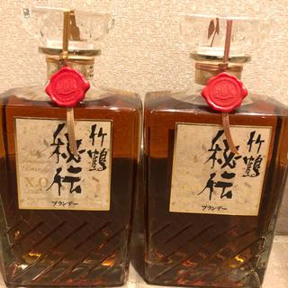ニッカウイスキー(ニッカウヰスキー)の最終値下げ  竹鶴秘伝 (ブランデー終売品)×2(ブランデー)