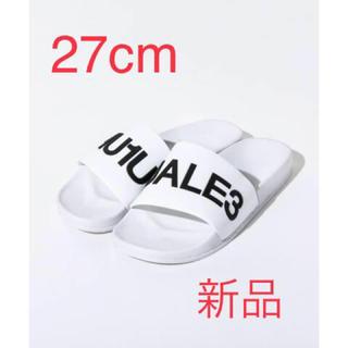 ウノピゥウノウグァーレトレ(1piu1uguale3)の《新品》1PIU1UGUALE3 サンダル 27cm Ⓜ️(サンダル)