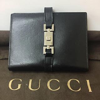 グッチ(Gucci)の鑑定済み 正規品 GUCCI グッチ 手帳カバー 黒革 送料込み(手帳)