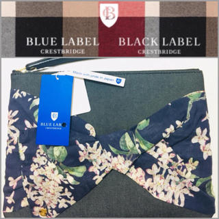 バーバリーブルーレーベル(BURBERRY BLUE LABEL)の新品未使用  BLUE LABEL CRESTBRIDGE クラッチバッグ(クラッチバッグ)