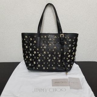 ジミーチュウ(JIMMY CHOO)のジミーチュウ ハンドバッグ サシャ Sサイズ 黒 3色スタッズ(トートバッグ)