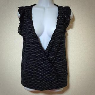 キュートゥーピー(QTOP)の【QTO*P】フロントカシュクールTOP(Tシャツ(半袖/袖なし))