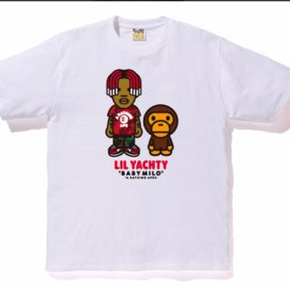 アベイシングエイプ(A BATHING APE)のbape lil yachty tee #1 white Lサイズ baby(Tシャツ/カットソー(半袖/袖なし))
