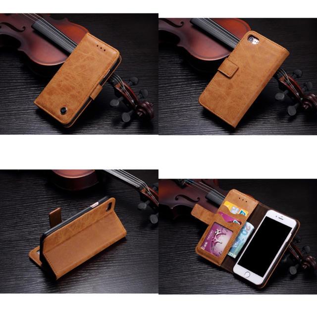 YSL iPhoneX ケース 三つ折 - 本革《牛皮》ユーズド加工☆iPhone7.8/X.XS/XR手帳ケース( ^ω^の通販 by モンキースター's shop|ラクマ