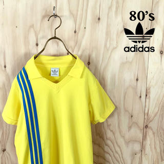アディダス(adidas)の【美品】80's adidas ゴールドタグ スリーストライプ  ゲームシャツ(Tシャツ/カットソー(半袖/袖なし))