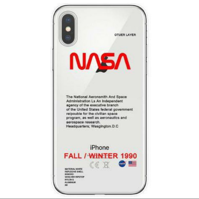 NASA iPhone8/X/XR用ケース クリアの通販 by vanilla's shop|ラクマ