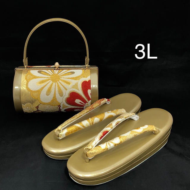 草履バッグ セット 3Lサイズ (新品) #624 レディースの靴/シューズ(下駄/草履)の商品写真