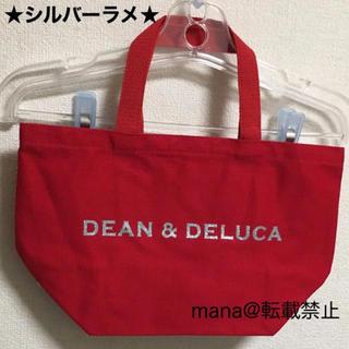 ディーンアンドデルーカ(DEAN & DELUCA)のレッド×シルバーラメ Sサイズ DEAN&DELUCA トートバッグ(トートバッグ)
