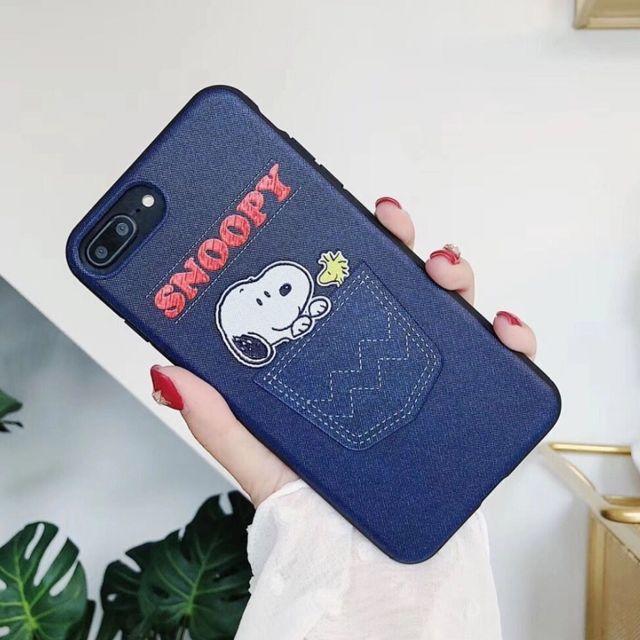 スヌーピー デニム Navy iPhoneケース SNOOPY スマホケースの通販 by ぴょんす's shop|ラクマ