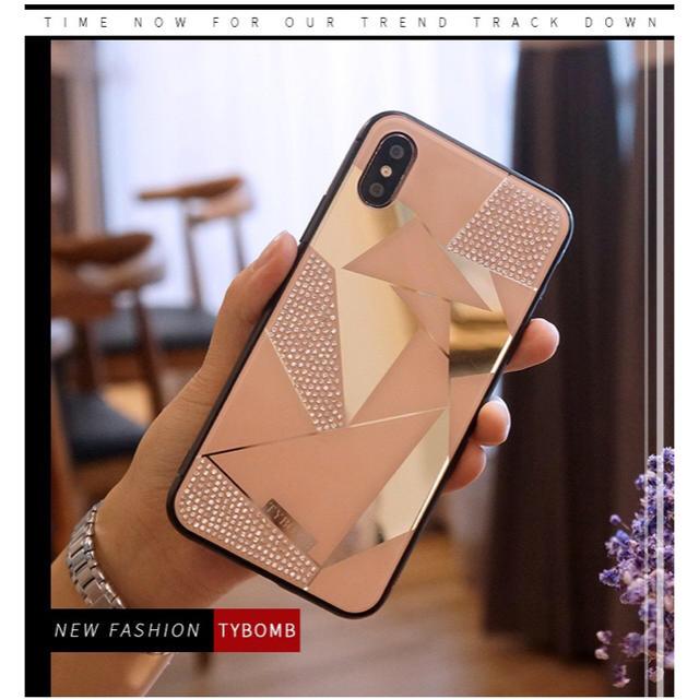 iphone xr かっこいい ケース 、 新作&人気!iPhone6/6s/7/8兼用 ラインストーンカバー ピンクの通販 by yukino'shop|ラクマ