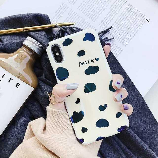 iPhoneXR ミルク 牛 アイフォンケース 可愛い ケースの通販 by coco's shop|ラクマ