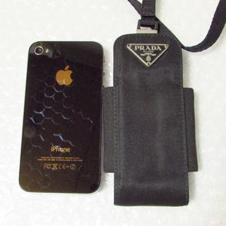 プラダ(PRADA)のプラダ 携帯ケース ネックストラップ付き スマホケース ガラケー(モバイルケース/カバー)