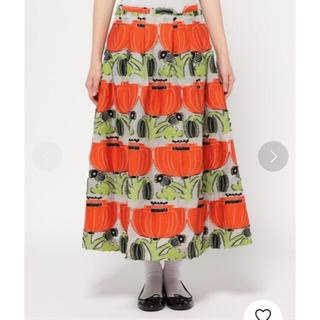 プープレ(peu pres)のpeu pres  ポピージャガードタックミディスカート オレンジ(ロングスカート)