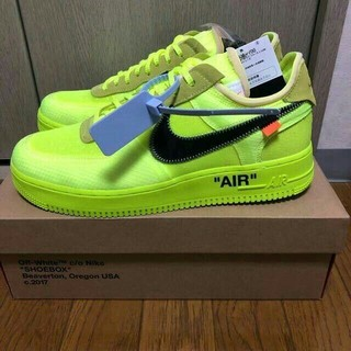 ナイキ(NIKE)のNIKE AIR FORCE 1 OFF WHITE VOLT(スニーカー)