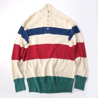ラルフローレン(Ralph Lauren)のラルフローレン ショールカラー◎マルチボーダー ラガーシャツ(スウェット)