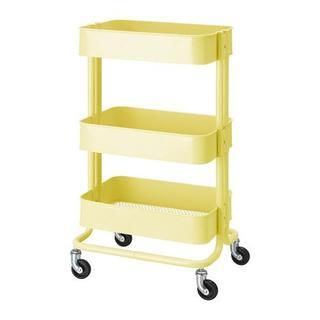 イケア(IKEA)のNEWカラー【新品・送料込】IKEA RASKOG ワゴン,ライトイエロー(キッチン収納)