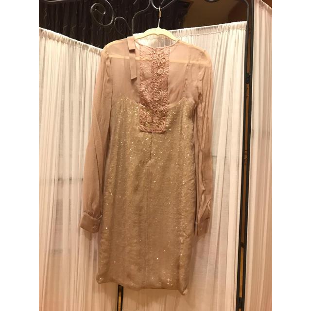 N°21(ヌメロヴェントゥーノ)のN°21ヌメロヴェントゥーノシルクビジュースリップドレス 未使用サイズ38 レディースのワンピース(ひざ丈ワンピース)の商品写真