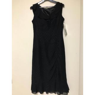 0f957f7a1a6d8 フォーマル ブラックワンピース(ミディアムドレス)
