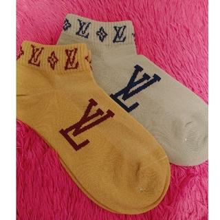 ルイヴィトン(LOUIS VUITTON)のLOUIS VUITTONノベルティレディース靴下⋆*ೄ(ソックス)