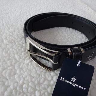 マンシングウェア(Munsingwear)の【新品/本物】マンシングウェア(Munsingwear)牛革/メンズベルト/黒(ベルト)