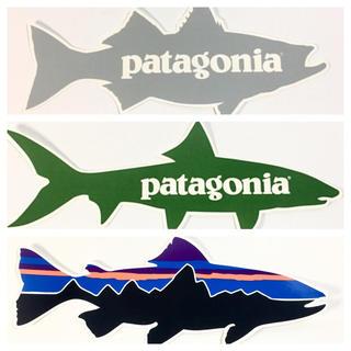 パタゴニア(patagonia)のパタゴニアステッカー 3点 ⁑ グレー グリーン フィツロイ (サーフィン)